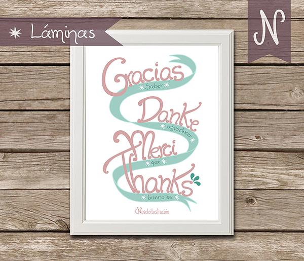 Lámina Gracias