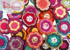 Broches de Crochet para Boda por Vikissue