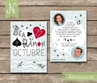 Invitaciones Bea y Ramón