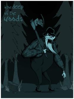 en lo profundo del bosque